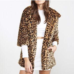 NWOT Forever 21 Vintage Chic Leopard Faux Fur Coat
